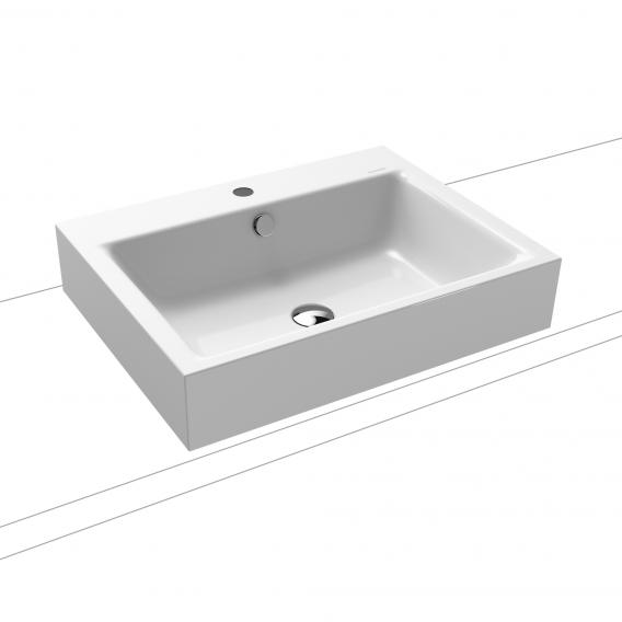 Kaldewei Puro countertop washbasin (12 cm edge height) with 1 tap hole