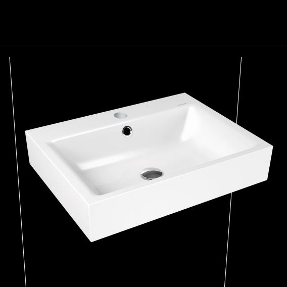 Kaldewei Puro wall-mounted washbasin white, with 1 tap hole