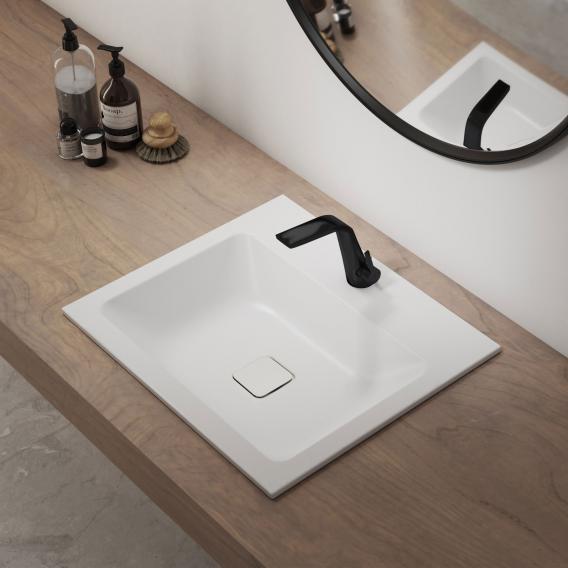 Kaldewei Set Cono drop-in washbasin with Steinberg 260 fitting white/matt black