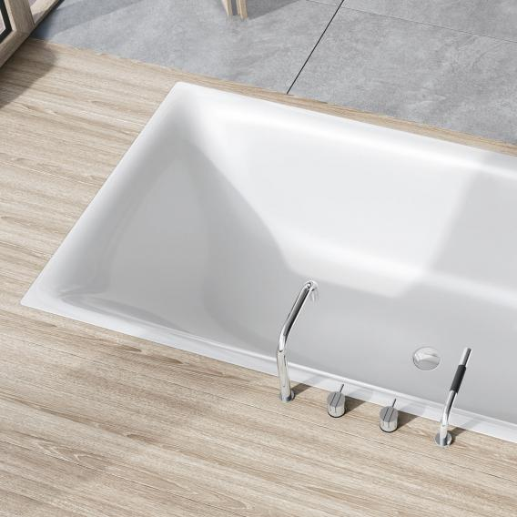 Kaldewei Silenio rectangular bath white, with easy-clean finish