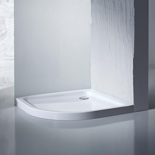 Kaldewei Arrondo quadrant shower tray with panel white, with easy-clean finish, with Antislip