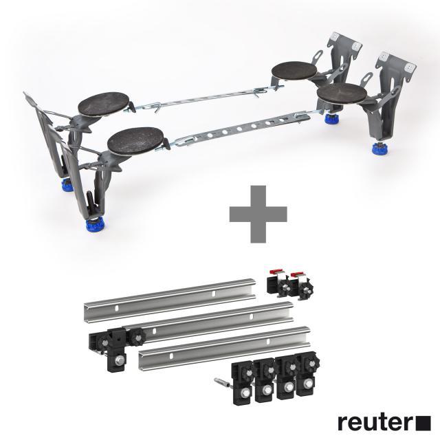 Kaldewei bath special legs 5037 incl. set of 3 MEPA support rails