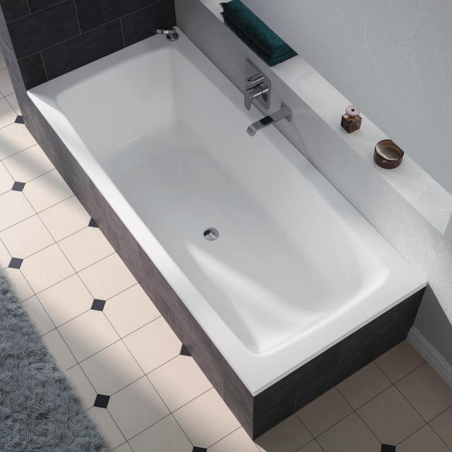 Kaldewei Cayono Duo rectangular bath, built-in white, with easy-clean finish
