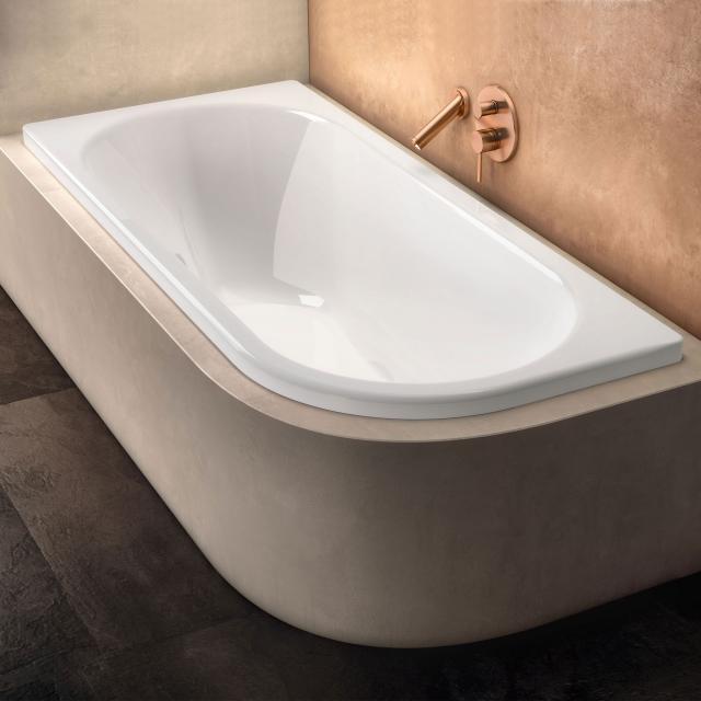 Kaldewei Centro Duo 1 corner bath, built-in Antislip, white, with easy-clean finish