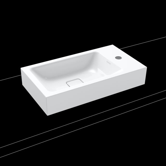 Kaldewei Cono countertop hand washbasin white, with 1 tap hole