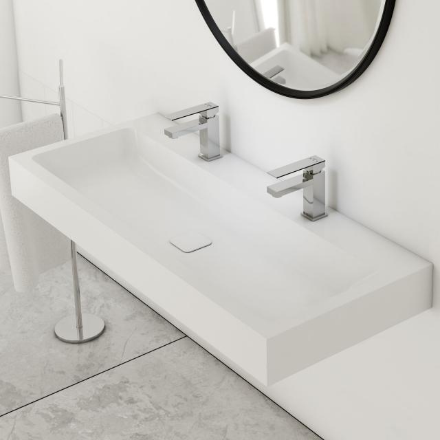 Kaldewei Cono double washbasin with Steinberg 160 fitting