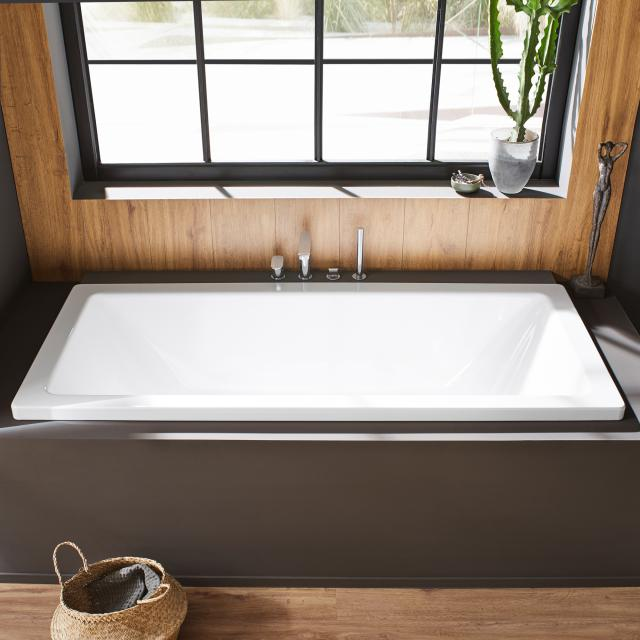 Kaldewei Conoduo rectangular bath, built-in white, with easy-clean finish