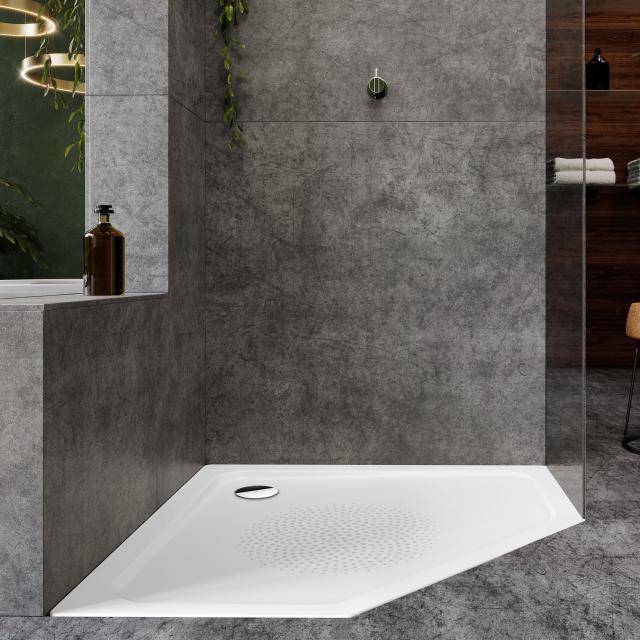 Kaldewei Cornezza pentagonal shower tray white, with Antislip