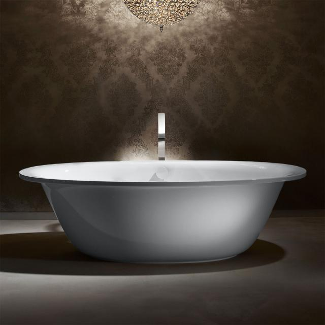 Kaldewei Ellipso Duo Oval freestanding oval bath white, with easy-clean finish, panel white