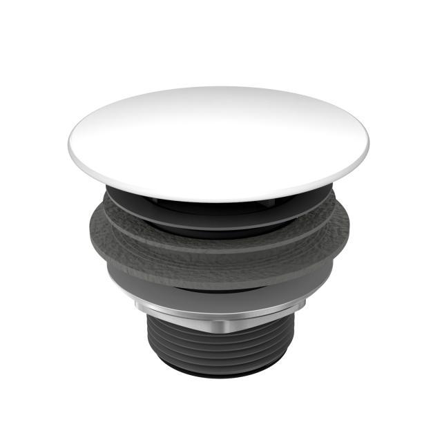Kaldewei free-flow waste with enamelled cover, round white
