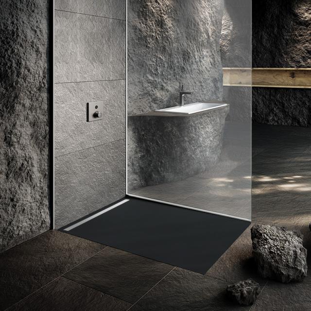 Kaldewei Nexsys floor-level shower element warm grey 85, with Secure Plus