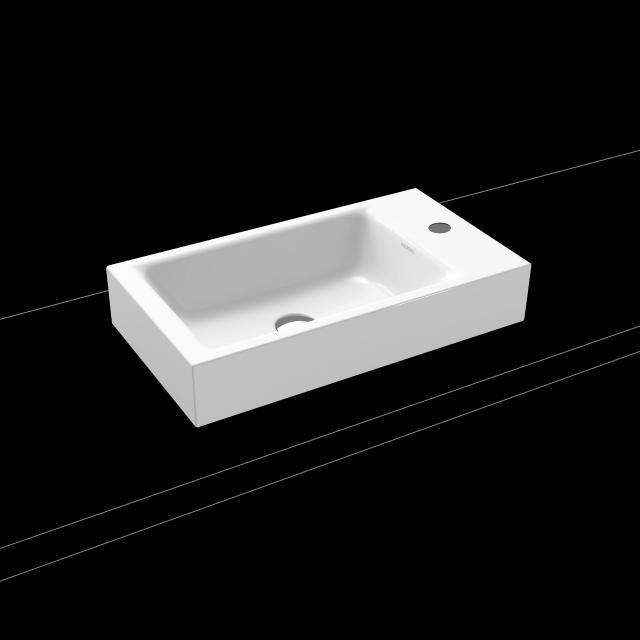 Kaldewei Puro countertop hand washbasin white, with 1 tap hole