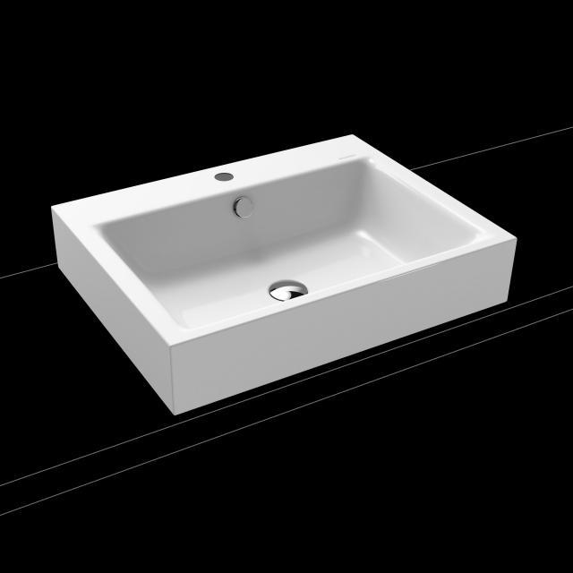 Kaldewei Puro countertop washbasin white, with 1 tap hole