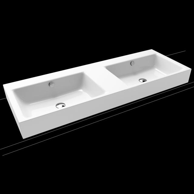 Kaldewei Puro double countertop washbasin white, without tap hole
