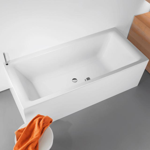 Kaldewei Puro Duo rectangular bath, built-in white, with easy-clean finish