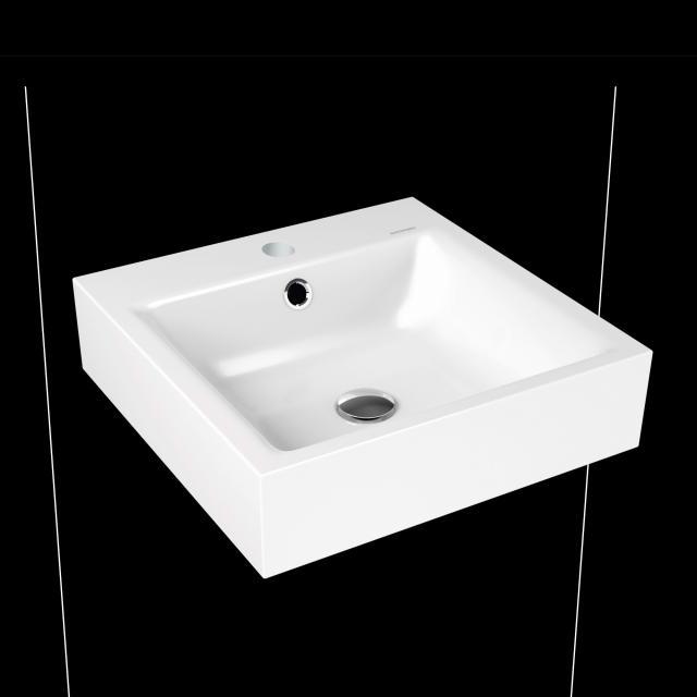 Kaldewei Puro hand washbasin white, with 1 tap hole