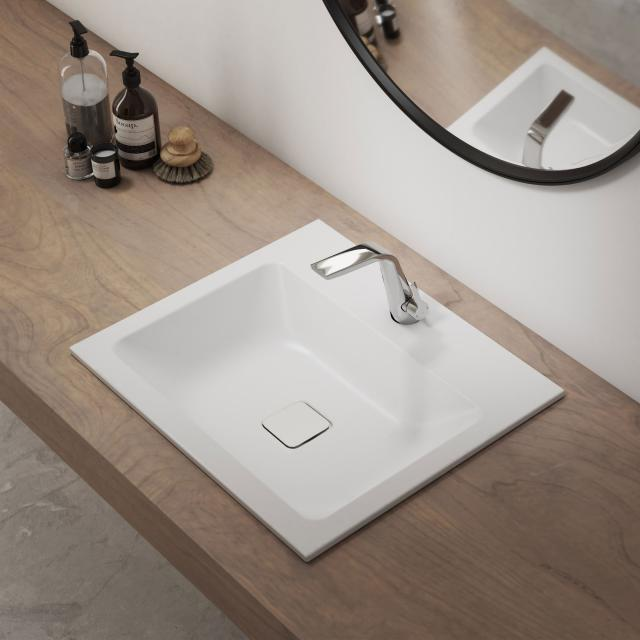 Kaldewei set Cono built-in washbasin with Steinberg 260 fitting chrome