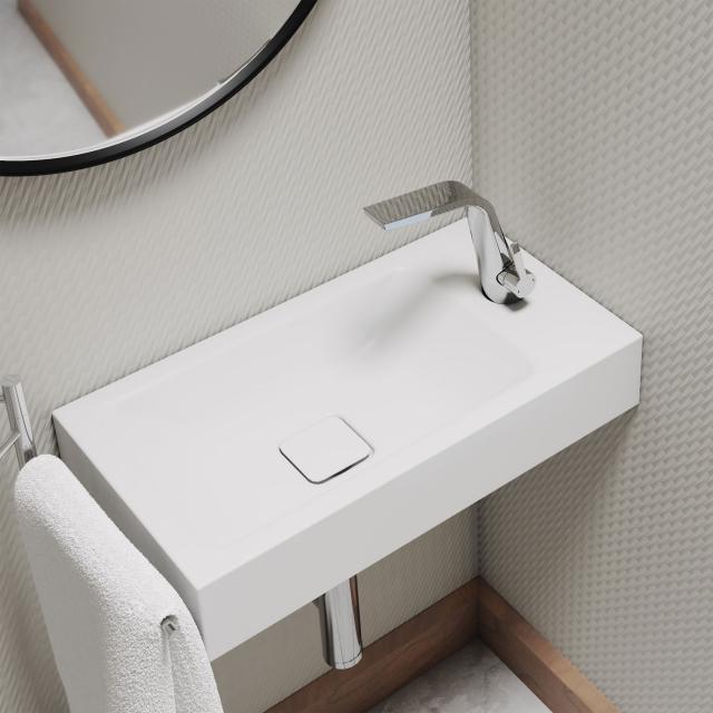 Kaldewei set Cono hand washbasin with Steinberg 260 fitting chrome