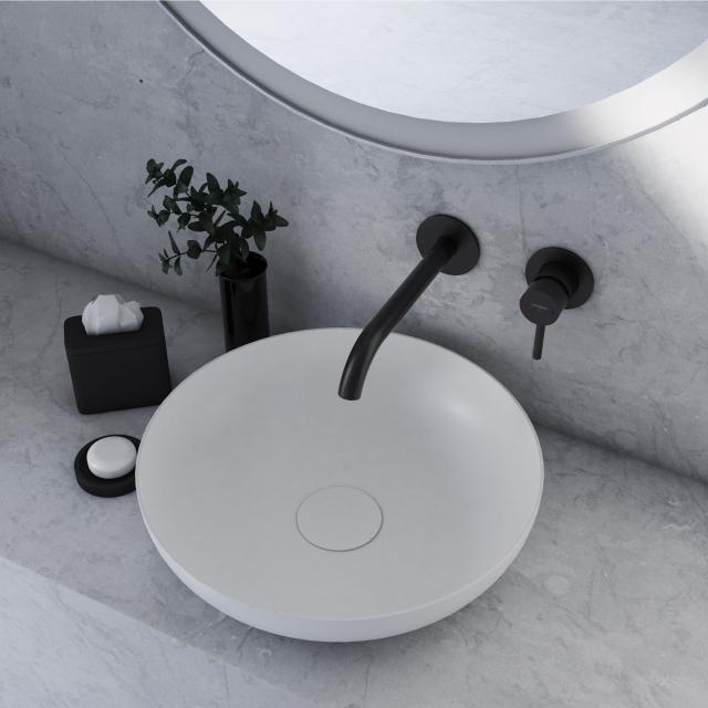 Kaldewei Set Miena washbowl with Steinberg 100 fitting white/matt black