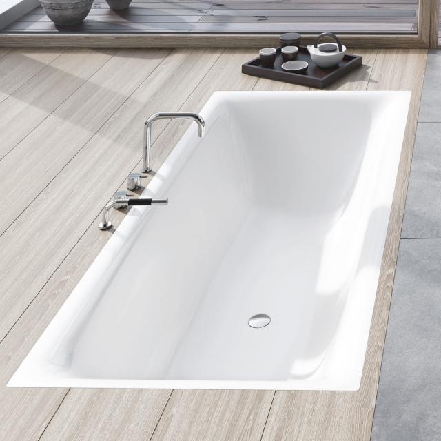 Kaldewei Silenio rectangular bath, built-in white, with easy-clean finish