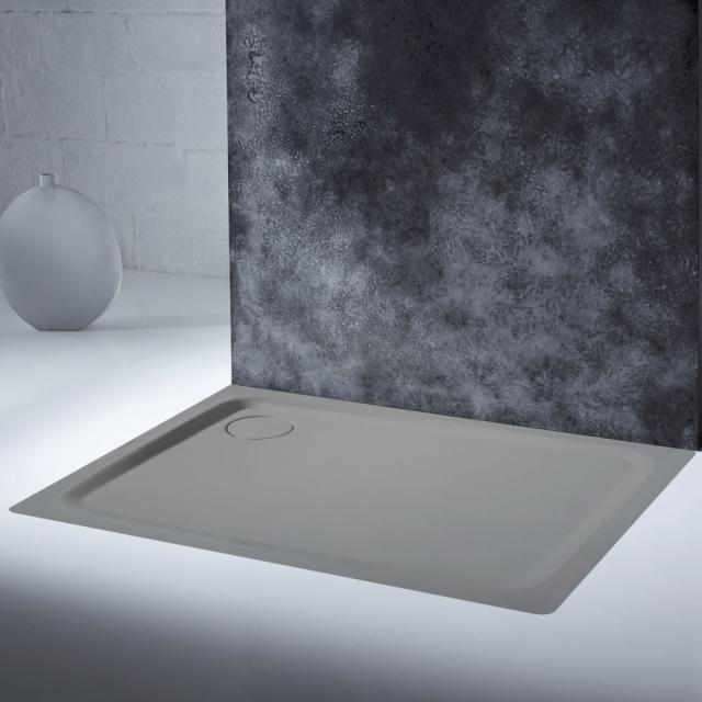 Kaldewei SuperPlan Plus rectangular/square shower tray pasadena matt grey, with Secure Plus
