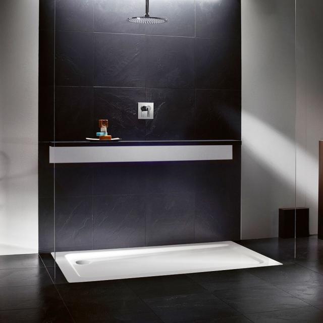 Kaldewei SuperPlan XXL square/rectangular shower tray matt white, with Secure Plus