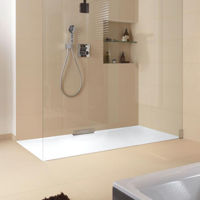 Kaldewei Xetis square/rectangular shower tray matt white, with Secure Plus