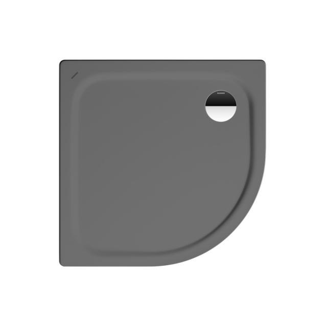 Kaldewei Zirkon quadrant shower tray warm grey 85, with easy-clean finish