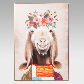 KARE Design Touched Flowers Goat picture