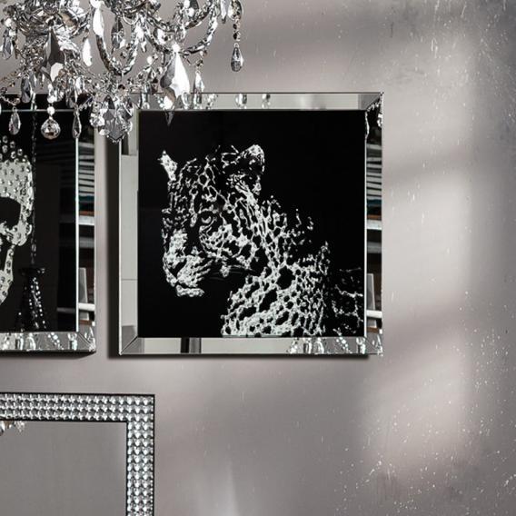 KARE Design Frame Mirror Leopard glass picture