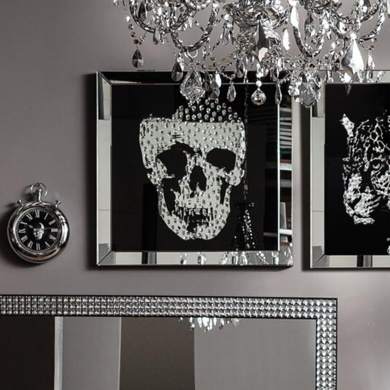 KARE Design Frame Mirror Skull glass picture