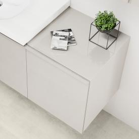 Geberit Acanto side unit with 1 pull-out compartment front sand / corpus matt sand
