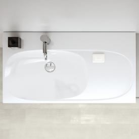 Geberit Acanto washbasin with shelf white, with 1 tap hole
