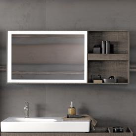 Geberit Citterio illuminated mirror element with shelf rack grey brown/mirrored