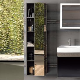 Geberit Citterio mirror with shelf grey brown
