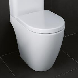 Geberit iCon floorstanding close-coupled washdown toilet, rimless white, with KeraTect