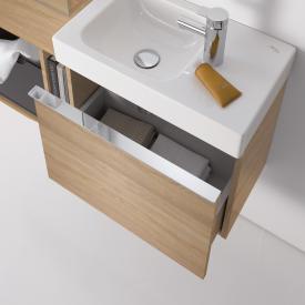 Geberit iCon Meuble sous-lave-mains avec 1 tiroir Façade et corps du meuble chêne naturel