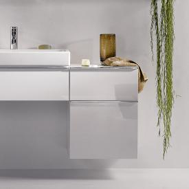 Geberit iCon side unit with 2 pull-out compartments front alpine high gloss / corpus alpine high gloss