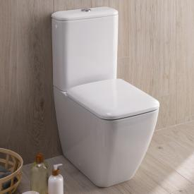 Geberit iCon Square floorstanding, close-coupled, washdown toilet with Duo outlet L: 64 W: 35 cm white, with KeraTect