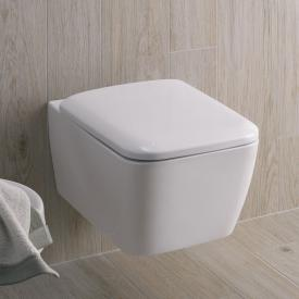 Geberit iCon Square wall-mounted, washdown rimless toilet white, with KeraTect