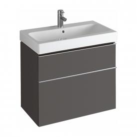 Geberit iCon vanity unit with 2 pull-out compartments front matt lava/corpus matt lava
