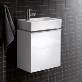 Geberit iCon vanity unit for hand washbasin with 1 door front alpine high gloss / corpus alpine high gloss