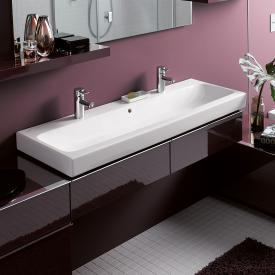 Geberit iCon double washbasin white, with KeraTect