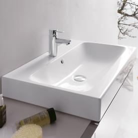 Geberit iCon washbasin white, with KeraTect, with 1 tap hole, with overflow