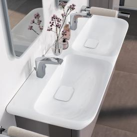 Geberit myDay double washbasin white, with KeraTect