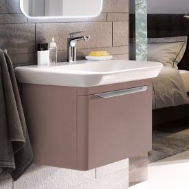 Geberit myDay vanity unit with 1 pull-out compartment front taupe high gloss / corpus taupe high gloss