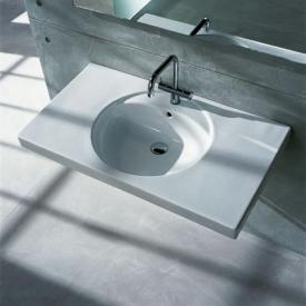 Geberit Preciosa washbasin white, with KeraTect, with 1 tap hole, with overflow