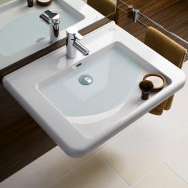 Geberit Renova Comfort Dejuna washbasin white, with 1 tap hole, with overflow