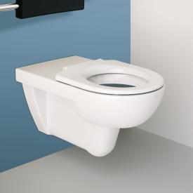 Geberit Renova wall-mounted, washdown toilet with flushing rim, white, with KeraTect