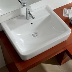 Geberit Renova Plan countertop basin white, with KeraTect